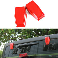 Red Upper Rear Door Window Hinge Cover Trims for Jeep Wrangler JK 2007-2016