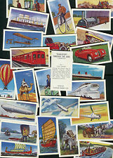 "CLOVER DAIRIES 1971 SET OF 25 ""TRANSPORT THROUGH THE AGES"" TRADE CARDS"