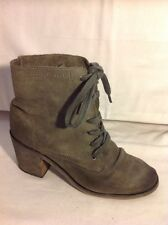 Office London Grey Ankle Leather Boots Size 38