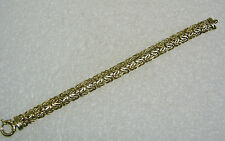 14K YELLOW GOLD THICK TURKISH WEAVE BRACELET 6 3/4 INCHES FABULOUS N138-J
