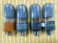 Four Beautiful Hytron CBS 6V6 Vacuum Tubes Gray Glass Two Low Two Strong