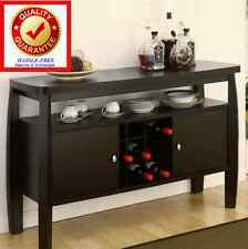 Modern Kitchen Buffet Table or Dining Room China Cabinet / Storage Wine Rack