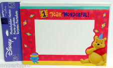 Winnie the Pooh Photoholder or Note Card, thank you etc  Birthday Party Supplies