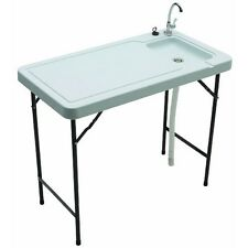 Folding Tables W/sink Basin Faucet Cleaning Table Camping Supplies Rv Equipment