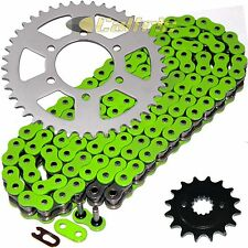 Green O-Ring Drive Chain & Sprockets Kit Fits KAWASAKI ZX750P Ninja ZX7R 96-03