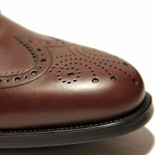 NIB FERRAGAMO Ponce BROWN Wingtip Brogue Leather Oxford Mens 11 D 44 Dress Shoes