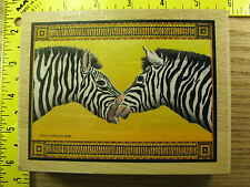Rubber Stamp Zebras Nuzzling Noses by Sugarloaf Animals Stampinsisters #456