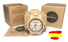 Reloj Madera Bambo Original Wood Wooden Watch Bewell WeWood Pride Maple Beige