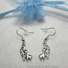 Cute mummy and baby giraffe earrings mother child giraffes in organza gift bag