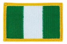 FLAG PATCH PATCHES NIGERIA NIGERIAN IRON ON COUNTRY EMBROIDERED WORLD FLAG