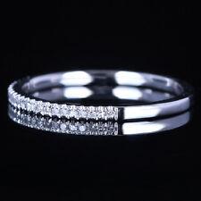 Natural Diamonds Wedding Ring Classic 14k White Gold Engagement Anniversary Band