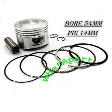 125cc Piston Kit (54mm) use 14mm pin-Fits Lifan Engines ATV,Dirt bike,Pit Bike