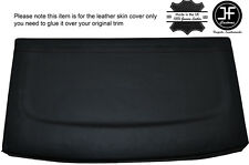 BLACK STITCH REAR PARCEL SHELF LEATHER COVER FITS VW GOLF MK4 IV JETTA 98-05
