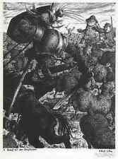 Lucha con los schafherden don quijote Werner aire 1940 autografiada-Gurlitt