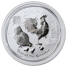 2017-P Australia 50c 1/2 oz. Silver Lunar Year of Rooster In Mint Cap SKU43302