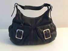 COLE HAAN Village Soft Black Leather Hobo Bag, with Original Dust Bag