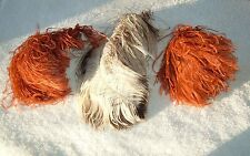 Antique MILLINERY ( 3 ) Ostrich FEATHERS Victorian EDWARDIAN Hat PLUMES