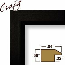 Craig Frames 7171610BK 8.5 by 11-Inch Picture/Poster Frame, Wood Grain Finish, .