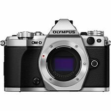 Olympus OM-D E-M5 Mark II 16.1MP Mirrorless Digital Camera Body (Silver)