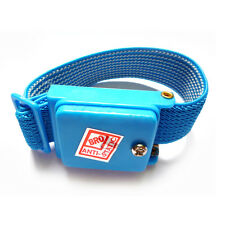 Anti Static Cordless Bracelet ESD Discharge Cable Wrist Strap Cool Blue  X