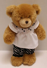 Stuffed Brown Build A Bear with Black & White outfit Bear measures 16 1/2""