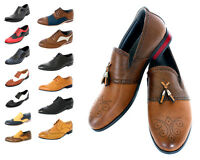 MENS SMART GANGSTER STYLE FORMAL, CASUAL WEDDING  BROGUES - FANTASTIC UNIQUE COM