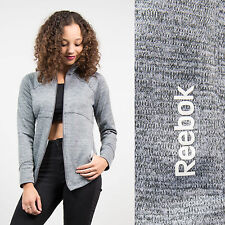 REEBOK GREY TRACKSUIT JACKET TOP ZIP FASTEN CASUAL RETRO SPORTS GYM FITNESS 8 10