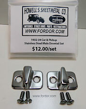 1932 1933 1934 Ford Male Door Dovetail set Stainless Pickup 1932 Car Coupe Sedan
