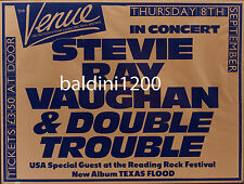 STEVIE RAY VAUGHAN -  QUALITY VINTAGE 1983 CONCERT POSTER / LOOKS GREAT FRAMED
