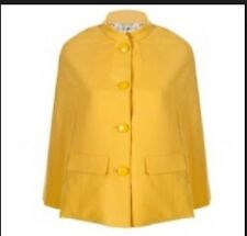 Alannah Hill cape coat 'over the moon' size M jacket used yellow