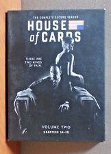 House of Cards: The Complete Second Season (DVD, 2014, 4-Disc Set)  LIKE NEW