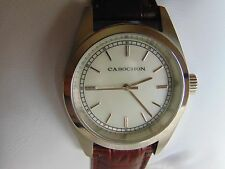 "Cabochon 35mm High Polished ""Mother of Pearl"" Stainless Steel Quartz Watch L@@K!"