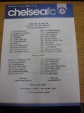 19/02/2011 Colour Teamsheet: Chelsea v Everton [FA Cup] (Folded). Any faults are