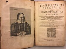 First Edition Book Thesaurus Biblicus Seu Promptuarium Sacrum 1644-42 R Bernard
