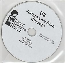 U2 - Vertigo Live From Chicago - Rare UK 4trk promo only CD U2PRO5 (mispress?)