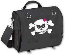 Racky Skull with Pink Star enrolla-y pack bolsa, negro