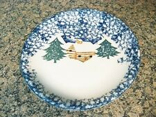 4 TIENSHAN CABIN IN THE SNOW DINNER PLATES NO BERRIES