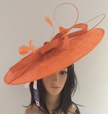 PETER BETTLEY ORANGE OCCASION DISC HATINATOR  MOTHER OF THE BRIDE