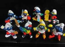 "lot of 8 The Smurfs FIGURE SET LOOSE 2""- 3"" #sf6"