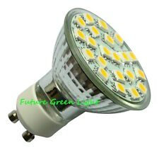 GU10 21 SMD LED 240V 2.6W 280LM WARM WHITE BULB ~50W