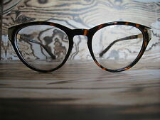 Tortoise Shell Cats-eye Geek Nerd Retro Vintage clear lens Glasses Wayfarer 80s