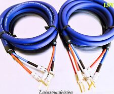 Van Damme Blue Series Studio 2x 6.0mm Twin Axial Speaker Cable 2x2.5m Terminated