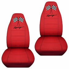 racing flag front car seat covers red/blue/pink/purple/tan/gray,choose ur color