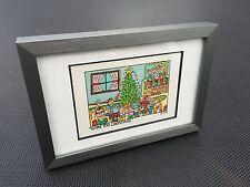 "RIZZI: Original Farblithographie ""HOME FOR CHRISTMAS"", 3D Vorlage, gerahmt, 2002"