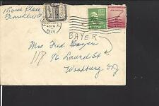 FRANKLIN, NEW JERSEY COVER,1949,  OFFICIAL SEAL,