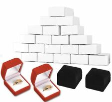 576 red or black nice jewelry gift  ring boxes veloor(velvetine)