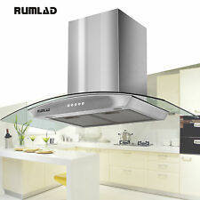 "36"" Stainless Steel Wall Mount Range Hood Stove Vent Fan w/ LED Control Kitchen"