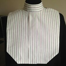 English Hunt Seat Ratcatcher Style Reversible White Pin Stripe Show Bib Dickie