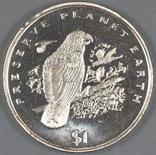 """Liberia 1996 """"Grey Parrot"""" $1 Coin"""