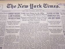 1940 MAR 23 NEW YORK TIMES NEWSPAPER - 2000 LATE PLANES FOR THE ALLIES - NT 46
